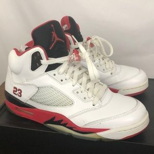 Air Jordan Retro 5 Fire Red Chicago Sneakers 10.5